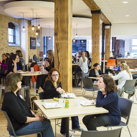 People coworking and collaborating at Innovation Works